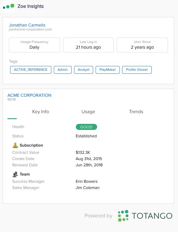 Zoe for ServiceNow Installation – Totango