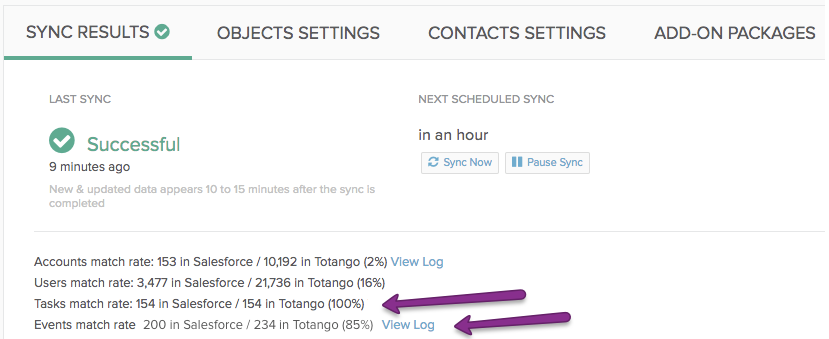 Synchronizing Totango Tasks and Touchpoints With Salesforce