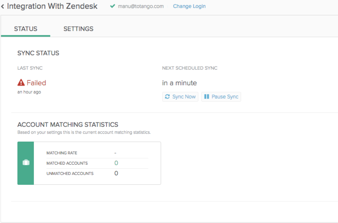 Connecting Zendesk to Totango – Totango